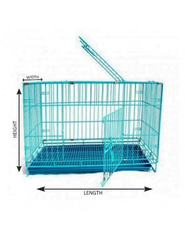 Pawzone Cage For Dogs Small 61x43x50 Inches Length