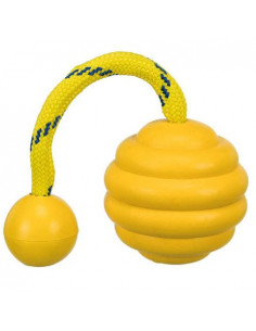 Trixie Germany wavy ball on a natural rubber toy