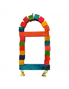 Pawzone Small Bird Toys - Triangle Ladder