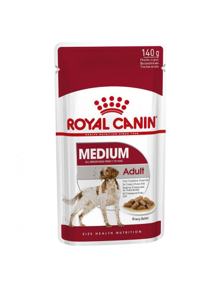Royal Canin Medium Adult Wet Gravy Pouches (10 pouches ) 1.4kg