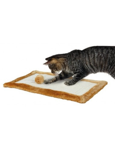 Trixie Scratching Mat for Cats, Brown