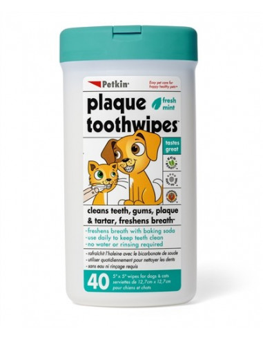 Petkin-Plaque Toothwipes