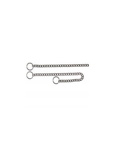 "Choke chain, stainless steel, 19.5""/2.5 mm"