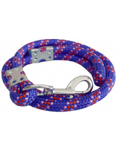 Pawzone Heavy Blue Dog Rope Leash for Big Dogs(Brass hook)