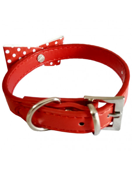 Pawzone Red Stylish Cat Collar with Bell