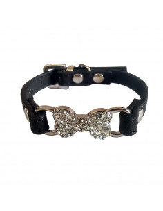 Pawzone Dazzling Black Cat Collar