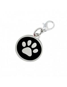 Pawzone Trendy Black Paw Pendant for Cat