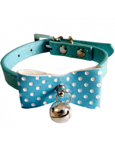 Pawzone Blue  Stylish Cat Collar with Bell