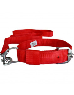 Pawzone  Red  Leash with Collar Set for Dogs