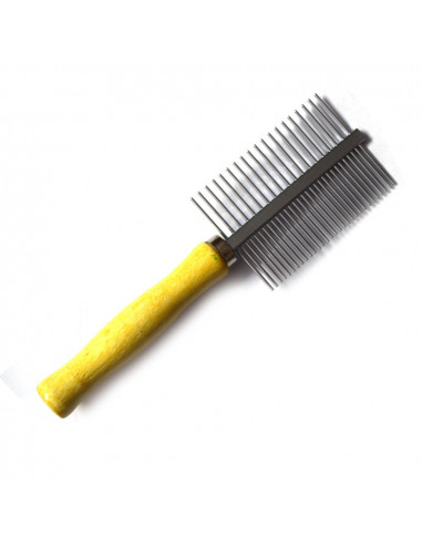 Pawzone double sided Wooden handle Flea Comb