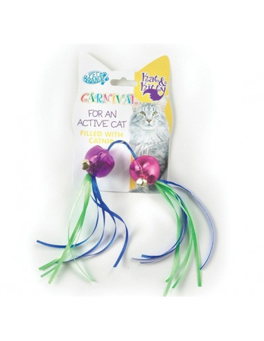 Pet Brands Carnival Cat Ball and Ribbons