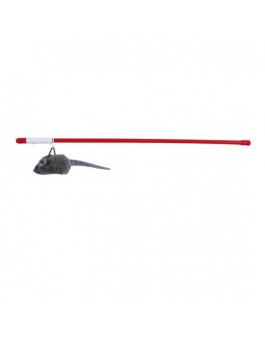 Playing rod with plush mouse, 50 cm