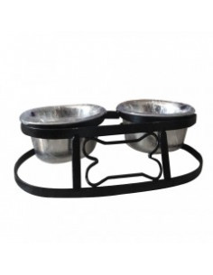 Pawzone Double Dining Dog Feeding Bowl