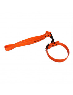 Pawzone Water Proof Orange Collar With Leash Set