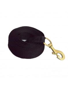 Pawzone black Training leash with brass hook