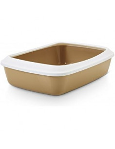 Savic Cat Litter Tray 15 inch, Assorted Colours Pack of 2