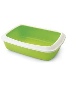 Savic Iriz Cat Litter Tray + Rim Lemon Green 20 inch