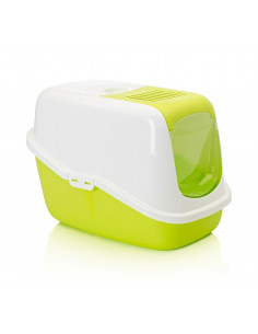 Savic Nestor Cat Toilet Home Lemon Green 22x15x15 inches