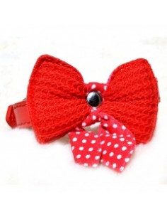 Pawzone Cat Bow Flower Collar Red XS