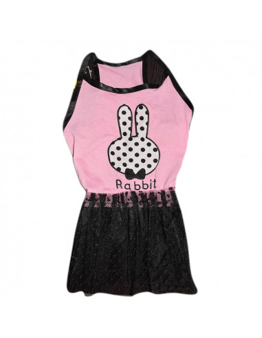 Pawzone Rabbit Frock For Kitten Red
