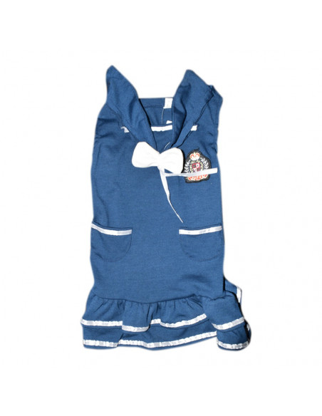Pawzone Blue Frock With Bow