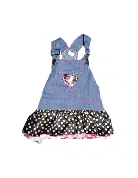 Pawzone Lovely Pink Desined Frock For Kitty