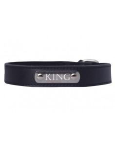 Pawzone Black Sliver Name Plate Collar