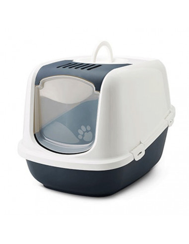 Savic Nestor Jumbo Cat Toilet  Marine Blue 26x19x18 inches