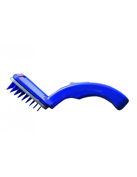 Pawzone Plastic Slicker Brush with Press Key