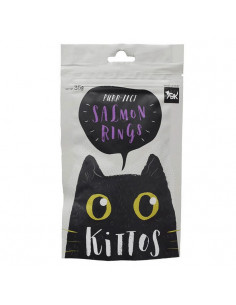 Kittos Salmon Rings Cat Treat 35 gm (Pack of 3)
