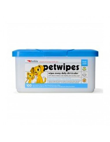 Petkin Petwipes For Cats And Dogs(100 Pieces)