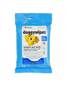 Petkin , doggy wipes 15 wipes