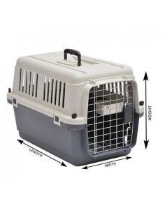 Pawzone Pet Carrier White & Grey 24 inches