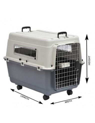 Pawzone Pet Carrier White & Grey 36 Inches length
