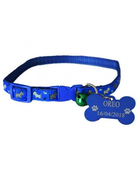 Pawzone Cat Collar With Customized Name Tag